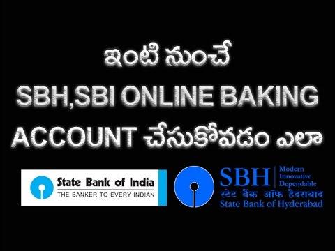 How to Create SBI,SBH, Internet Banking Account Online Telugu