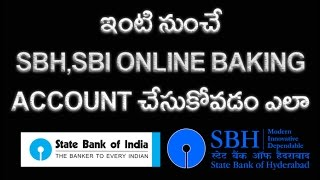 vuclip How to Create SBI,SBH, Internet Banking Account Online Telugu