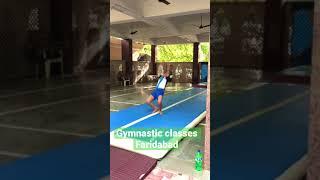 #Air #track #gymnastic class faridabad #short #shortvideo /Raajparkour