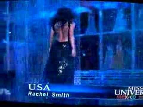 Miss USA Rachel Smith falls