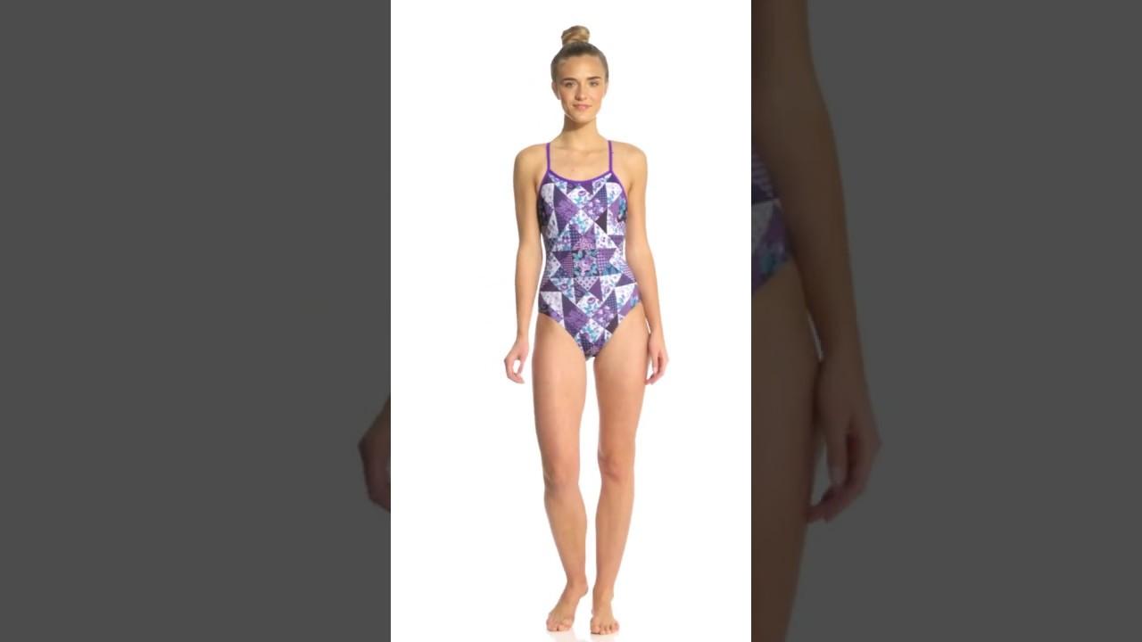 524b6f2fbc3 Amanzi Womens Purple Plaid One Piece Swimsuit   SwimOutlet.com - YouTube