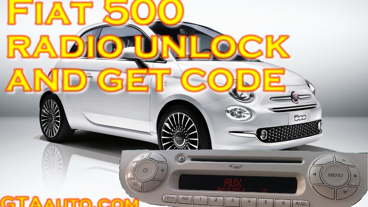 fiat 500 radio unlock and get code pin youtube. Black Bedroom Furniture Sets. Home Design Ideas