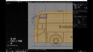 How to Make BUS Model with Blender pt2