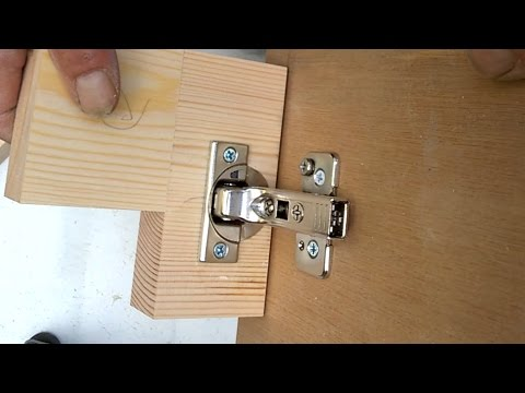 How To Fit Blum Clip On Cabinet Hinges 95 176 On 27mm Thick