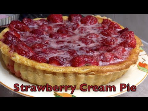 Strawberry Cream Pie Video Recipe cheekyricho