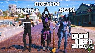 GTA 5 MOD REAL LIFE FROM CALCIATORE ⚽ #90 - CRISTIANO RONALDO, MESSI & NEYMAR PLAY TO FORTNITE!!