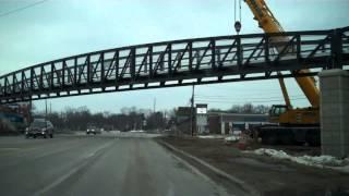Driving under the new Rock Island Greenway on Knoxville - North & Southbound
