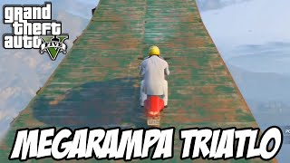 GTA V - MEGARAMPA no Triatlo CORRIDA SENSACIONAL