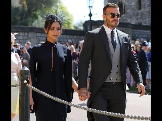 Le couple Beckham au mariage de Harry et Meghan