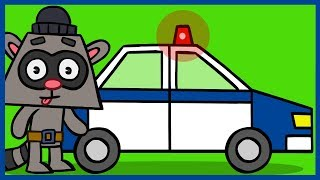 Рисовашка со Степашкой. Полицейская машина. Как нарисовать полицейскую машину.