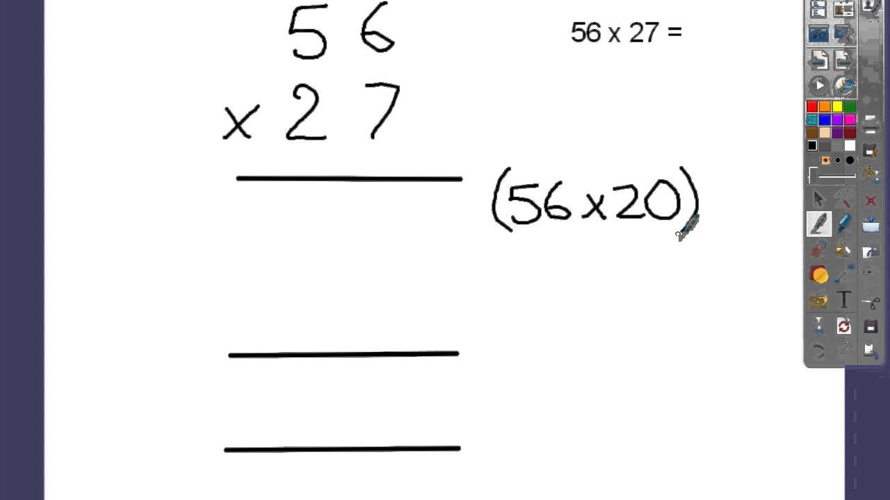 Standard written method for multiplication youtube standard written method for multiplication falaconquin