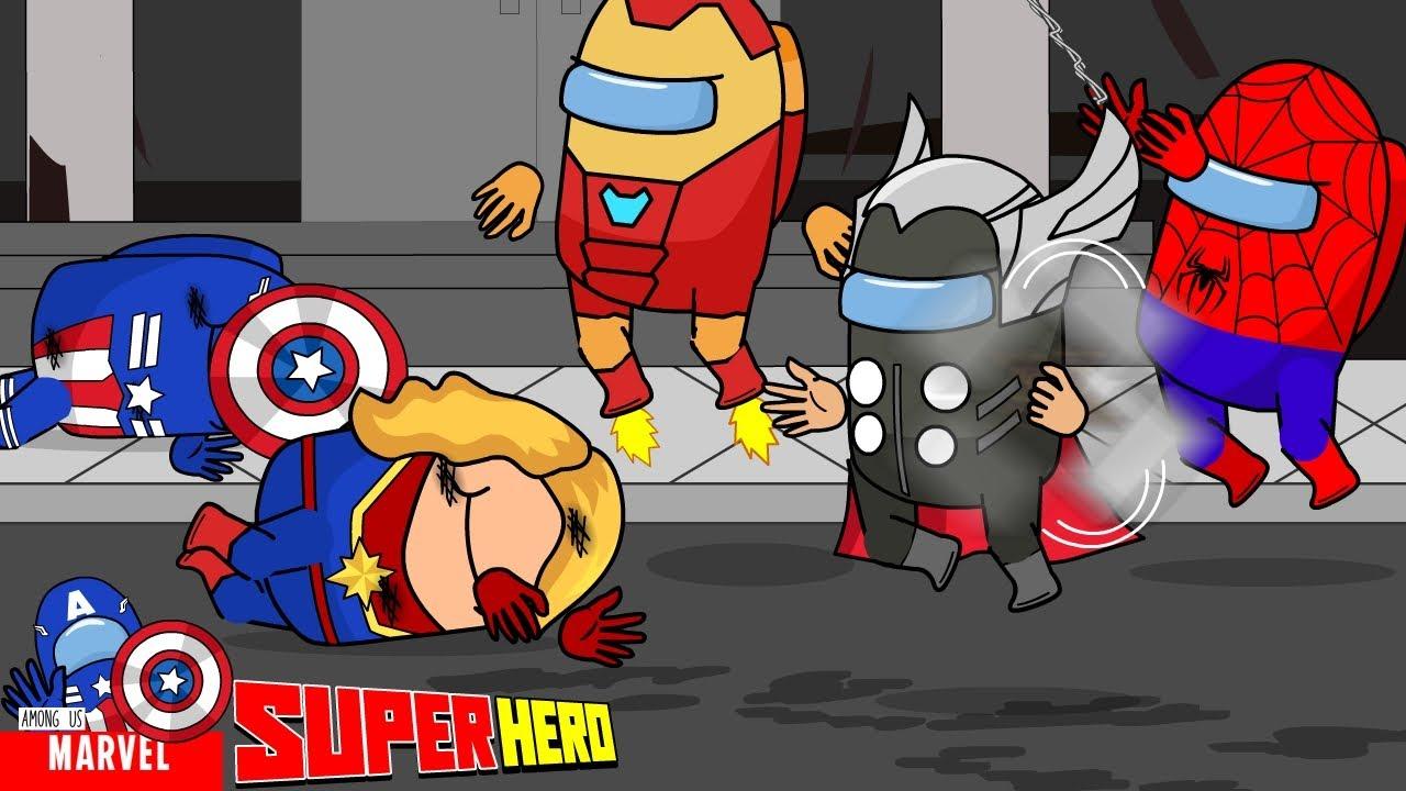 Captain Marvel Really Hates Thanos - Captain Marvel & Captain America Were Beaten By Thanos