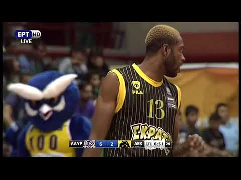 Antwaine Wiggins (#30 Yellow Jersey, 18 Points, 12 Rebounds) AEK Athens at Lavrio