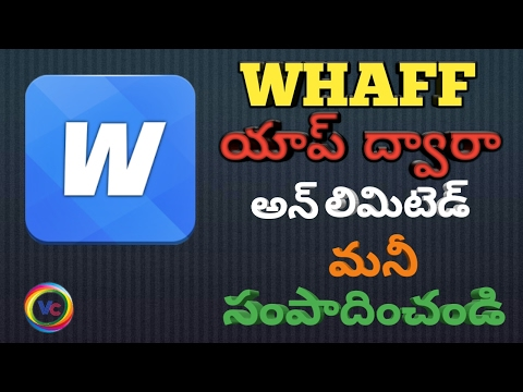 Earn From Android Apps (Whaff )//How to earn money online //Telugu//VashmiCreations Tv