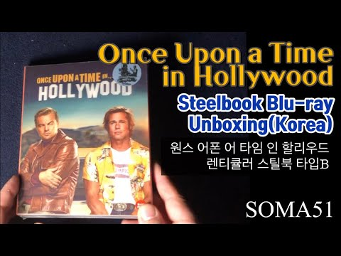 Once Upon A Time In Hollywood Steelbook Blu-ray (Korea) Unboxing
