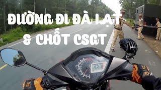 Hướng dẫn đi Đà Lạt - Chốt CSGT bắn tốc độ - VLOG PHƯỢT #8 | MinC Motovlog