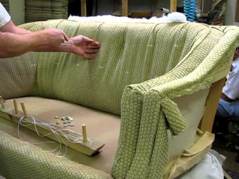 Upholstering Adding The Buttons Youtube