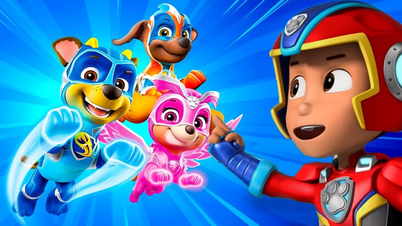 PAW Patrol Mighty Pups Save Adventure Bay - Rubble, Rocky Super Heroic Mission Part 1 - Nick Jr HD