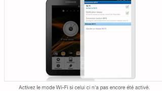 Se connecter en Wi-Fi avec un Samsung Galaxy Tab