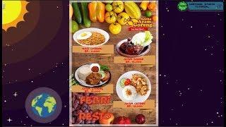 Tutorial katalog menu Photoshop