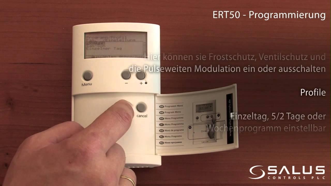 Salus Controls Raumthermostat f/ür Fu/ßbodenheizung Salus ERT 50 Triac ger/äuschlos