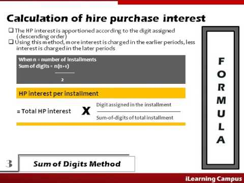 Hire Purchase Accounting Interest Calculation - YouTube
