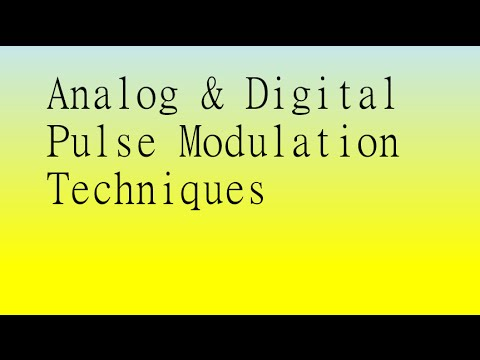 pulse and digital techniques Data encoding and modulation references: chapter 5 - stallings   each pulse is a signal element  different digital encoding techniques can be compared.