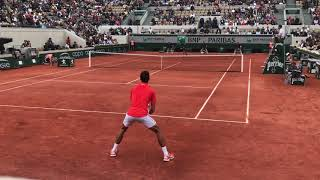 Novak Djokovic Roland Garros 2019 Court Level View