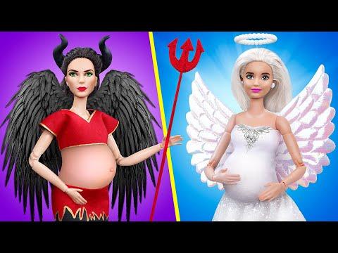 11 лайфхаков и поделок для беременных Барби и миниатюрных малышей