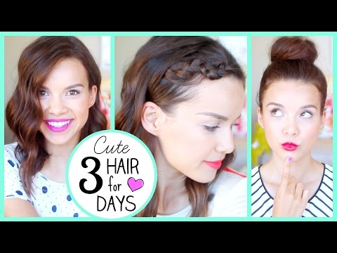 Make 3 Days of Cute Hair... WITHOUT Washing!! Pictures