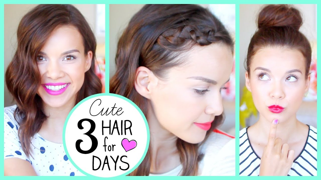 3 Days Of Cute Hair WITHOUT Washing!! YouTube