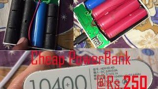 Cheap power bank 10400 mah rs 250 Reality review and repair