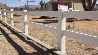 2-rail Vinyl Fence Installation