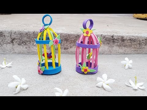 Foam sheet bird cage simple craft |How to make your own bird cage  | diy craft ideas