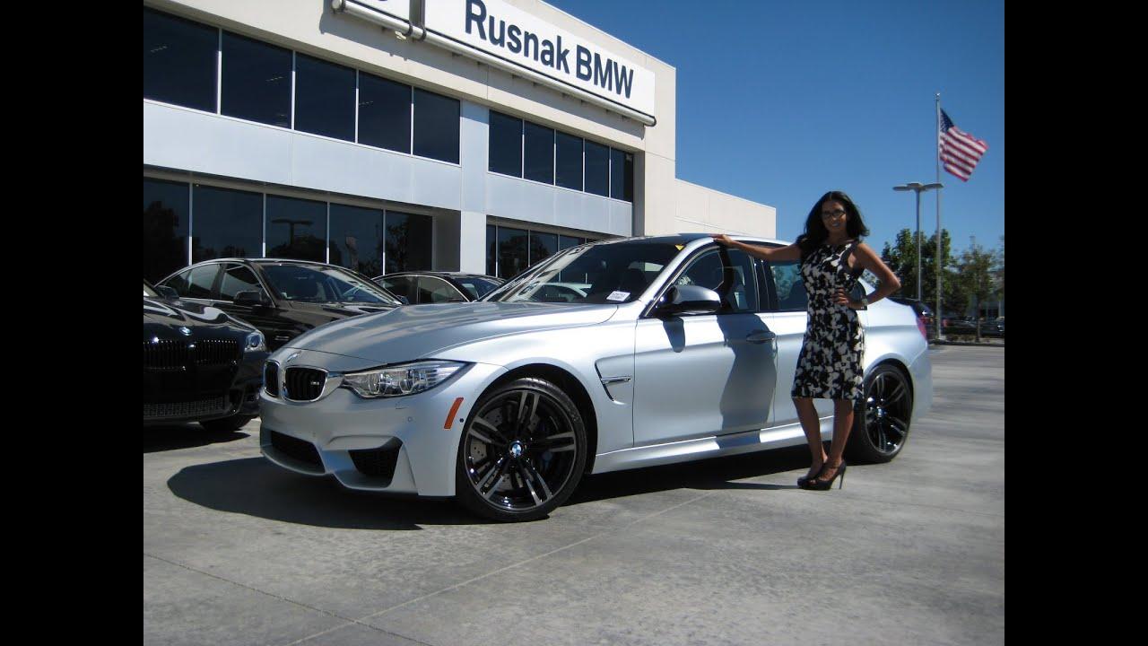 """BMW M3 FROZEN SILVER / Exhaust Sound / 19"""" Black M Wheels ..."""
