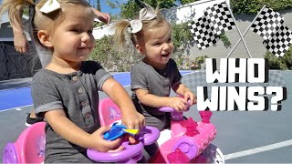 TODDLER RACE in NEW CARS
