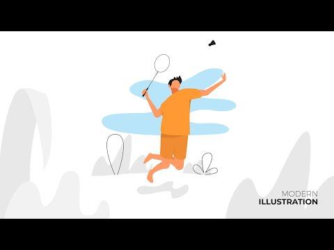 Illustrator Tutorials | Modern Illustration, Free Style Badminton, Stock Vectors, TL thumbnail