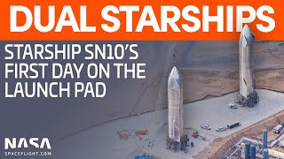 Starship sn10 joins sn9 on the suborbital launch pad, waiting to begin its test campaign. and sn7.2 are ready for their tests as well. also spotted was a...
