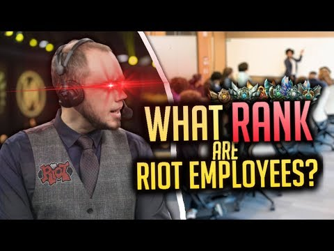 What RANK Are Riot Employees?