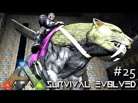ARK: Survival Evolved - PERFECT KIBBLE TAMED LVL 120 SABERTOOTH !!! [Ep 25] (Server Gameplay)