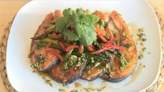 How To Make Salmon Dish With Asparagus And Lime