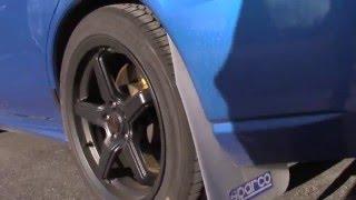 Sparco mudflaps  and Rally Armor basic Mud  flap Subaru
