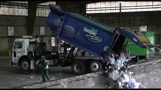 garbage trucks unloading part 3