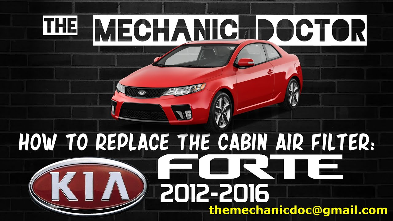 how to replace the cabin air filter kia forte 2012 2013 2014 2015 2016  [ 1280 x 720 Pixel ]