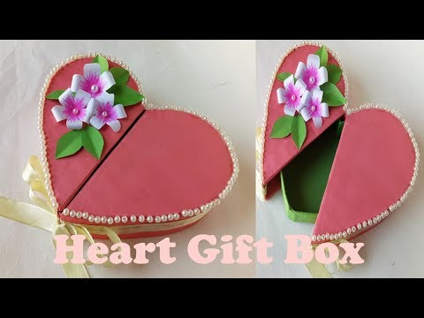 How To Make A Heart Shaped Paper Gift Box.Origami Gift Box