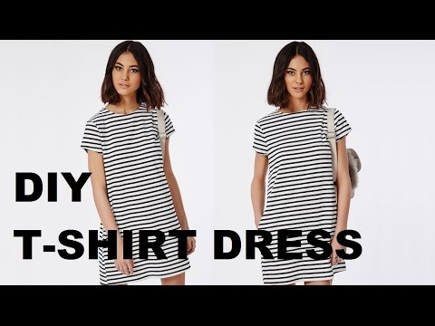 868a43fde DIY | HOW TO MAKE A T-SHIRT DRESS (pattern available) - YouTube