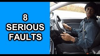 Learner Almost Crashes On Driving Test - 8 Serious Faults