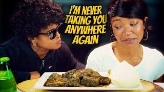 FUFU AND CASSAVA STEW | WEST NIGERIAN AFRICAN FOOD MUKBANG