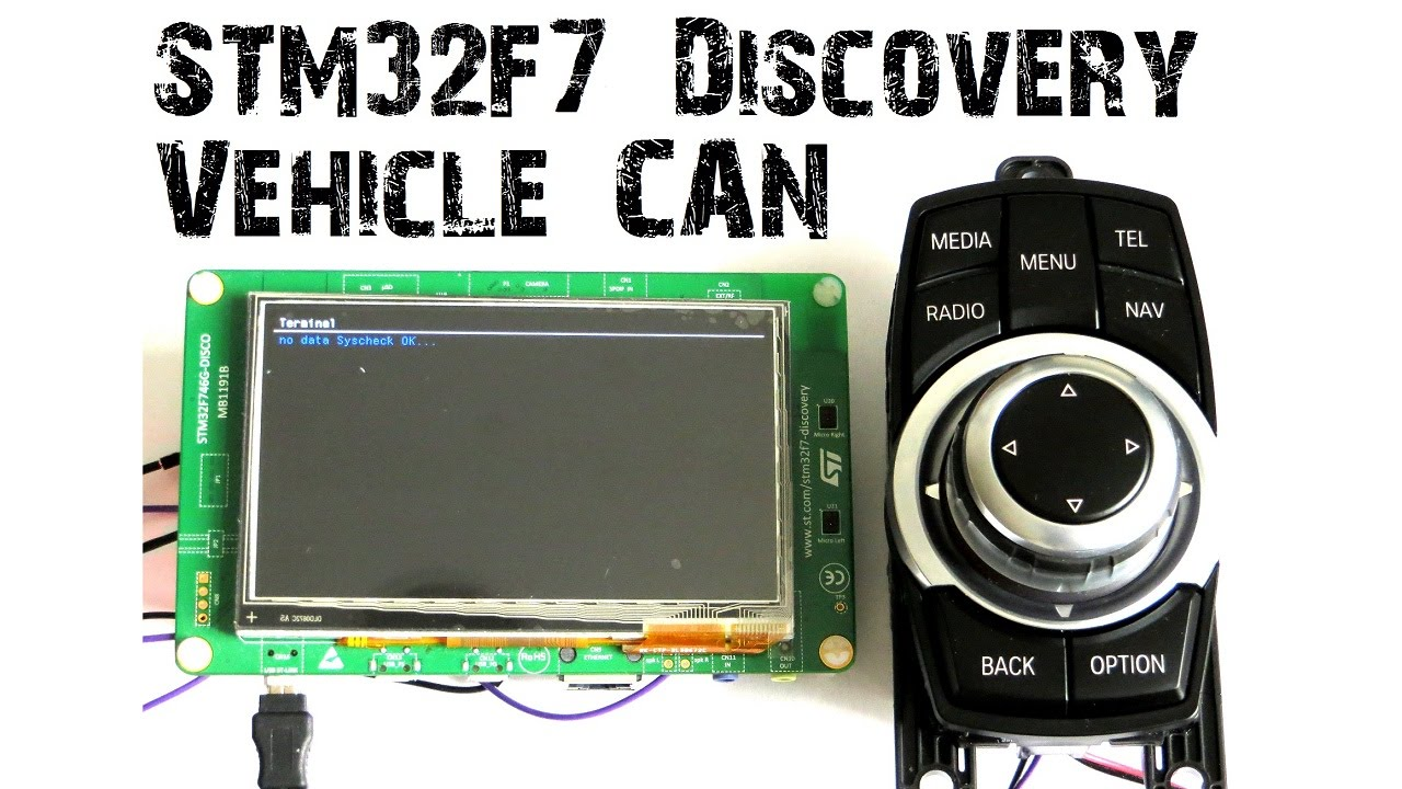 Stm32f4 discovery can bus communication (120m length) youtube.