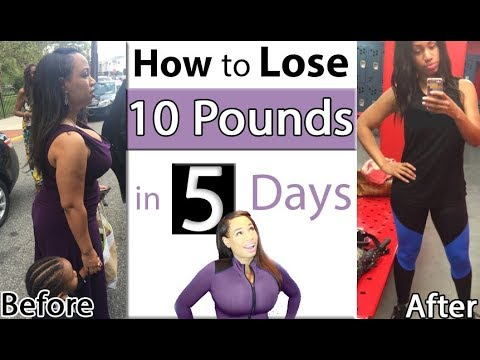 How to Lose 10 pounds in 5 Days (At home with no equipment or products)